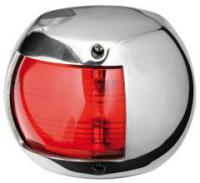 Navigation Light Classic 12 Red Port 112.5 Degree Stainless Surround