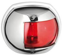 Navigation Light Maxi 20 Series Red Port 112 Degree Polished 316 Stainless Steel