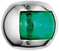 Navigation Light Classic 12 Green Starboard 112.5 Degree Stainless Surround